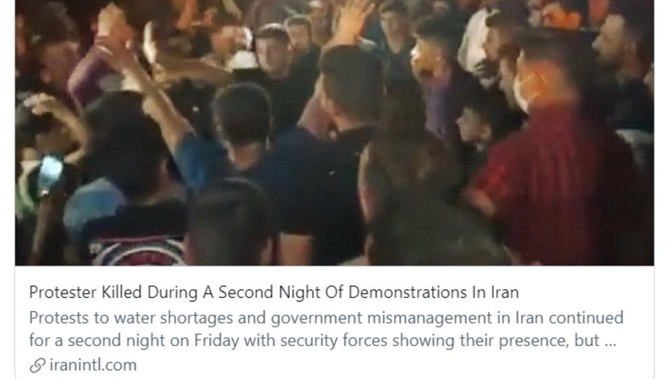 Im Iran sind Proteste gegen Wasserknappheit ausgebrochen