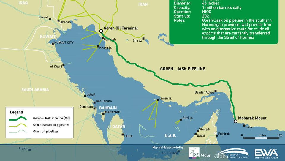 Iran eröffnet Öl-Pipeline zur Umgehung der Straße von Hormus