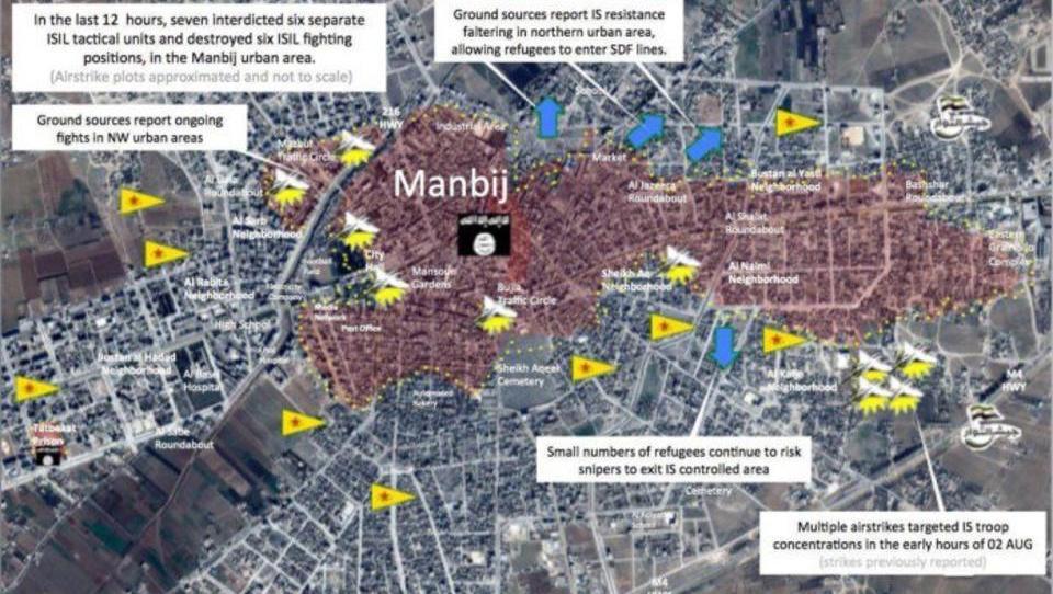 Kurden befreien Zweidrittel von ISIS-Stadt in Syrien