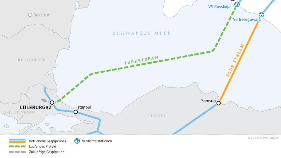 TurkStream: Russland liefert die erste Milliarde Kubikmeter Gas in die Türkei