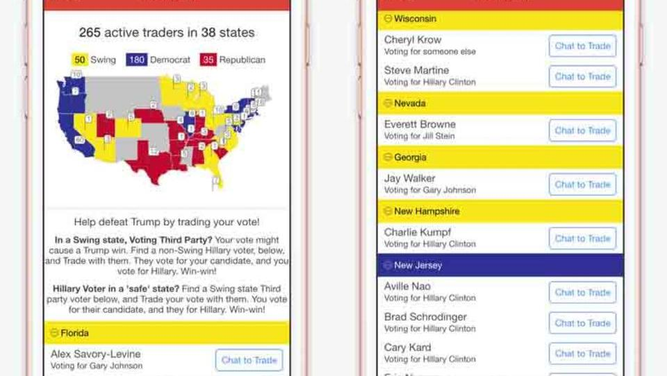 Niemals Donald Trump: Amerikaner tauschen Stimmen über Internet