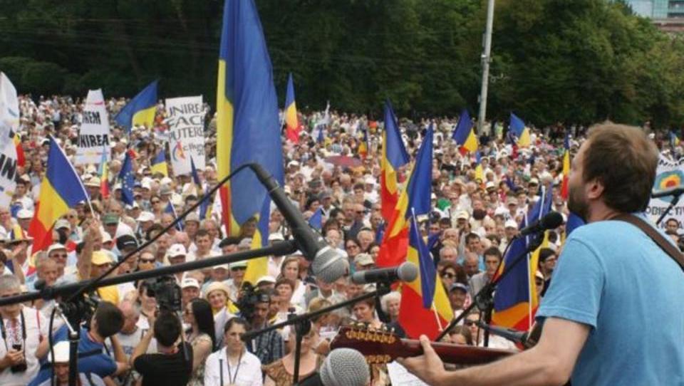 Moldawien: Zehntausende demonstrieren für Anschluss an Rumänien