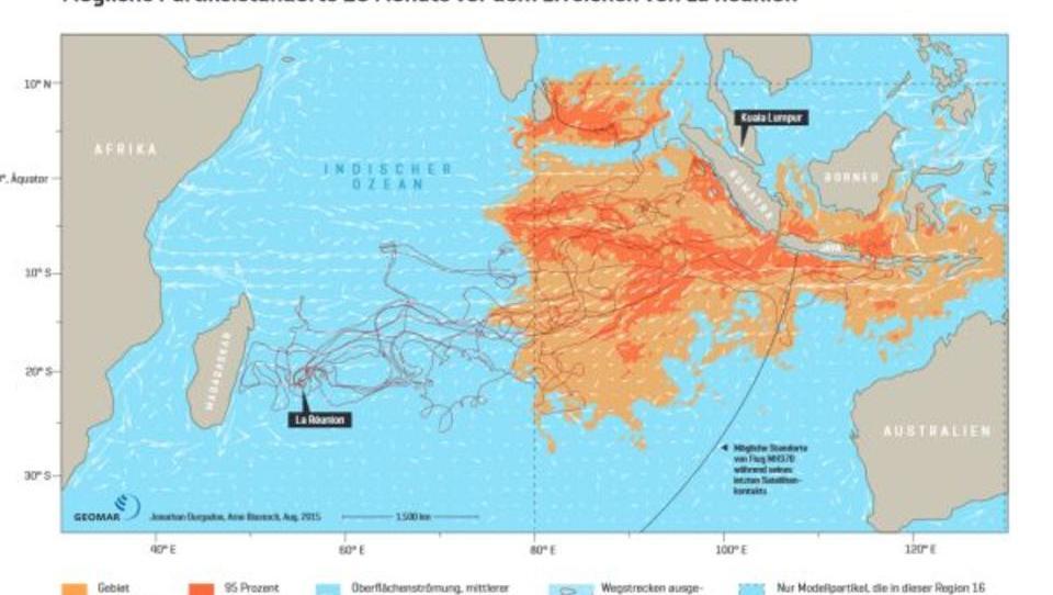 Flug MH370: Helmholtz-Forscher liefern neue Hinweise auf Absturzstelle