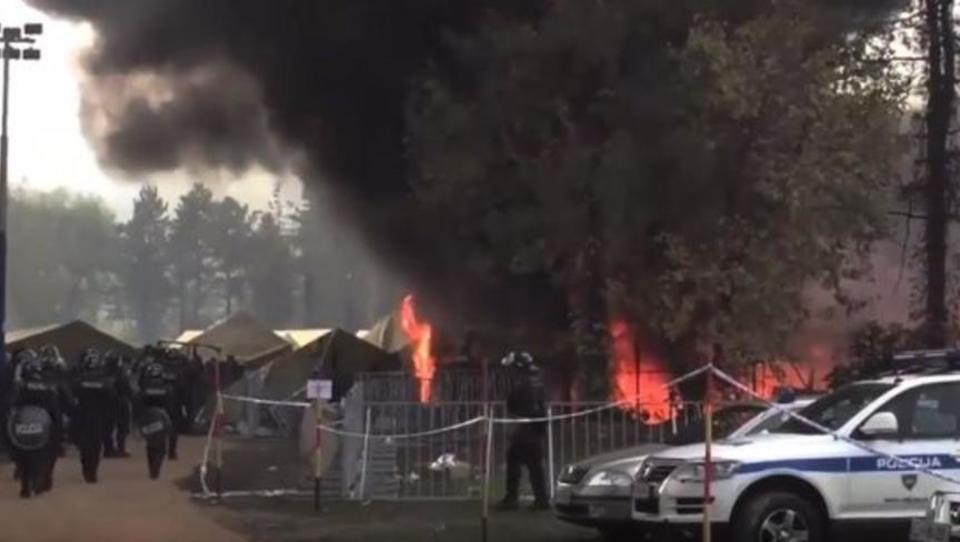 Slowenien: Zwei Drittel der Flüchtlingszelte niedergebrannt