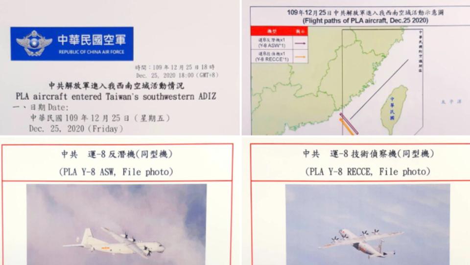 Am 1. Weihnachtstag: Chinesische Kampfjets dringen in Taiwans Luftraum ein