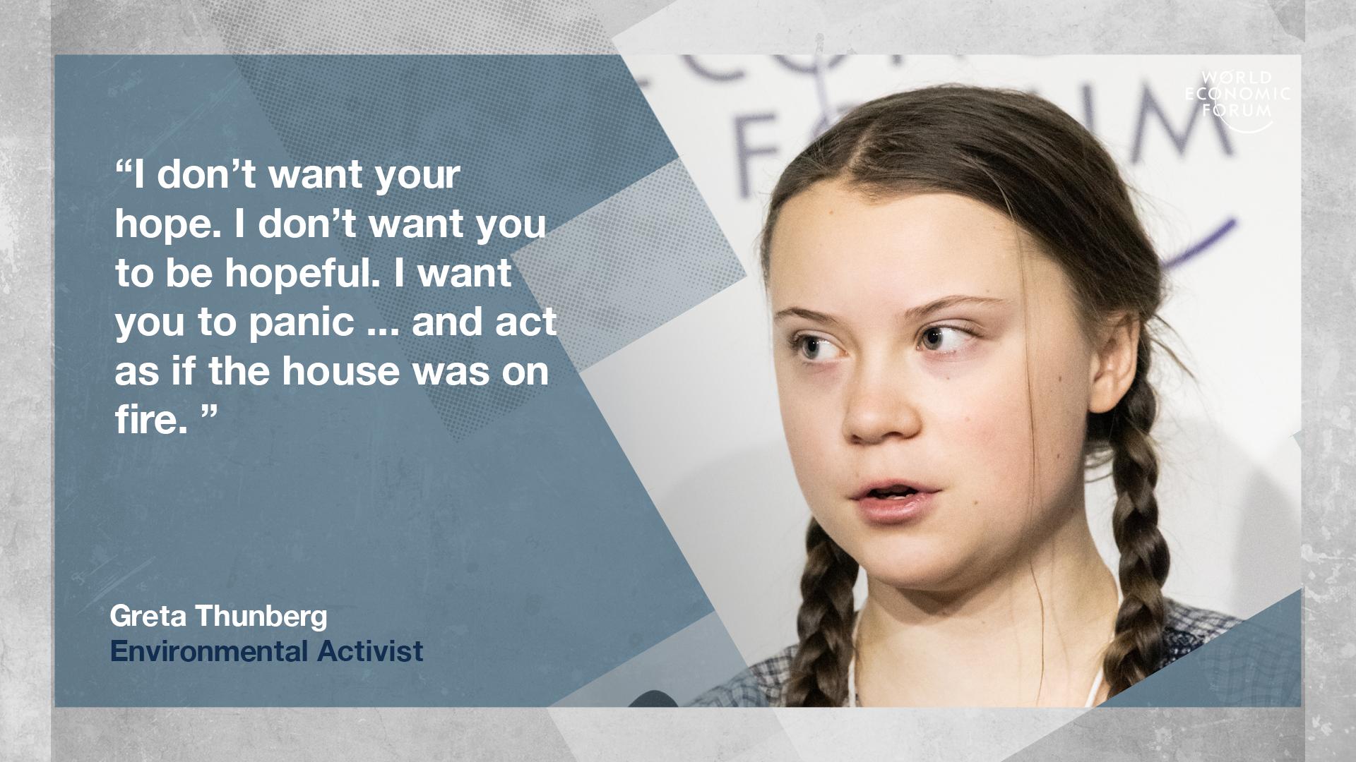 Wie das mächtige Weltwirtschaftsforum die Klima-Aktivistin Greta Thunberg hofiert