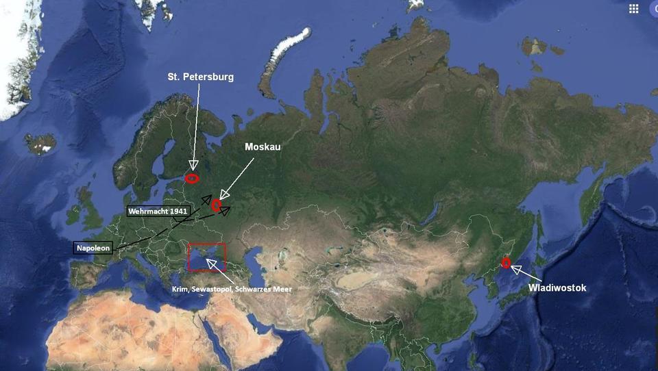 Russlands rote Linie: Wie seine geografische Lage die Machtpolitik des Riesenreiches bestimmt