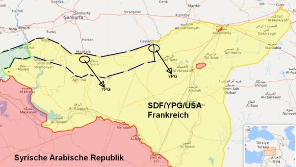 Syrien: Kurden-Milizen ziehen sich von türkischer Grenze zurück